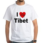 I Love Tibet (Front) White T-Shirt