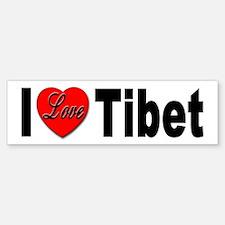 I Love Tibet Bumper Bumper Bumper Sticker