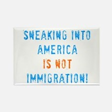 Sneaking Into America Rectangle Magnet
