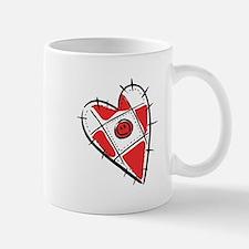 Cute Pin Cushion Patchwork Heart Design Mug