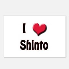 I Love (Heart) Shinto Postcards (Package of 8)