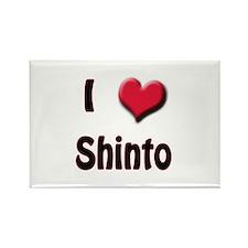 I Love (Heart) Shinto Rectangle Magnet