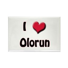 I Love (Heart) Olorun Rectangle Magnet