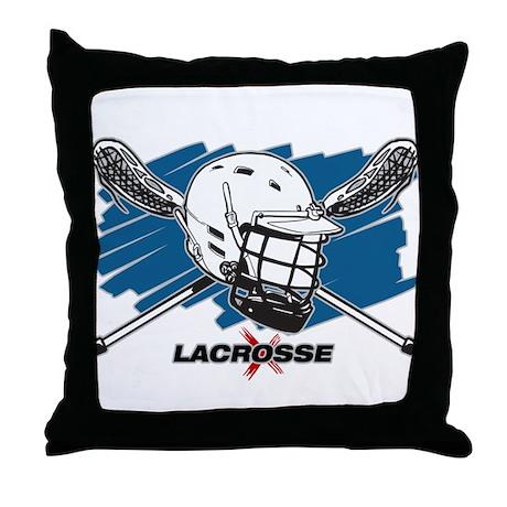 Lacrosse Attitude Throw Pillow