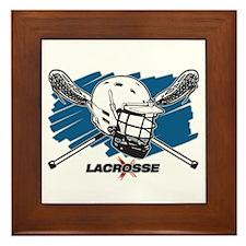 Lacrosse Attitude Framed Tile