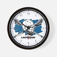 Lacrosse Attitude Wall Clock