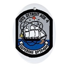 USS Detroit AOE 4 Oval Ornament