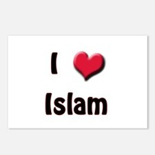 I Love (Heart) Islam Postcards (Package of 8)