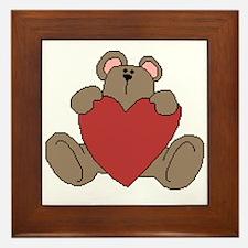 Here's My Heart Framed Tile