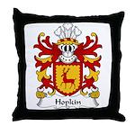 Hopkin Family Crest Throw Pillow