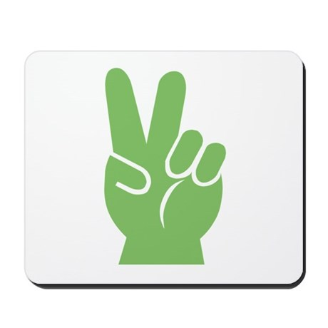 Green Hand of Peace Mousepad