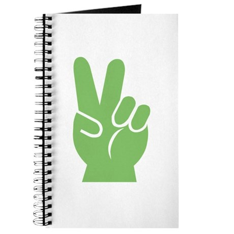 Green Hand of Peace Journal