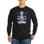 Hooks Family Crest Long Sleeve Dark T-Shirt