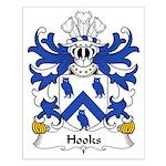 Hooks Family Crest Small Poster