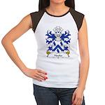 Hooks Family Crest Women's Cap Sleeve T-Shirt