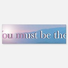 Be the Change Panoramic Sticker 2 of 5 (Bumper)
