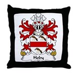 Hoby Family Crest Throw Pillow