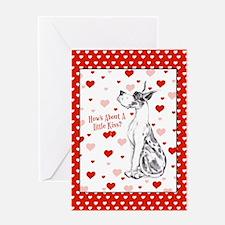 Great Dane Harle Kiss Greeting Card