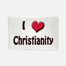I Love (Heart) Christianity Rectangle Magnet
