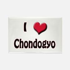 I Love (Heart) Chondogyo Rectangle Magnet