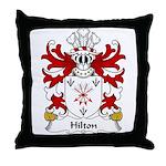 Hilton Family Crest Throw Pillow