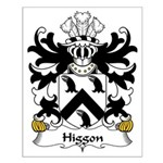 Higgon Family Crest Small Poster