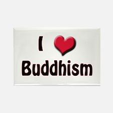 I Love (Heart) Buddism Rectangle Magnet