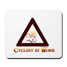 CYCLIST AT WORK Mousepad