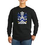 Henbury Family Crest Long Sleeve Dark T-Shirt