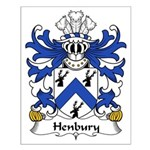 Henbury Family Crest Small Poster