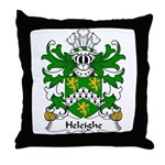 Heleighe Family Crest Throw Pillow