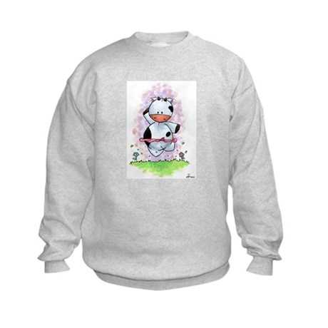 Happy Dancing Cow Kids Sweatshirt