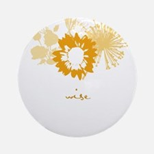 wise Ornament (Round)
