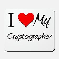 I Heart My Cryptographer Mousepad