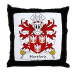 Hartford Family Crest Throw Pillow