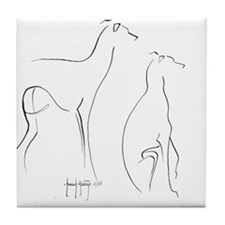 Cute Italian greyhound Tile Coaster