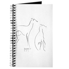 Cute Italian greyhound Journal