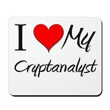 I Heart My Cryptanalyst Mousepad