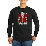 Hall Family Crest Long Sleeve Dark T-Shirt