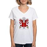 Hall Family Crest Women's V-Neck T-Shirt