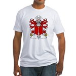 Hall Family Crest Fitted T-Shirt