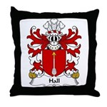 Hall Family Crest Throw Pillow