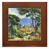 Vintage french framed tile Framed Tiles