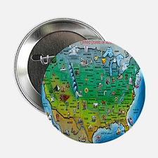 USA Cartoon Map Button