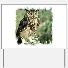 Owl flight Yard Sign