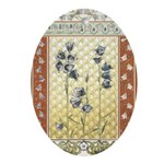 Asian Tranquility Oval Ornament