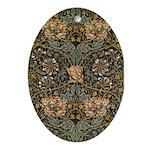 Honeysuckle Oval Ornament
