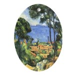 Chateau View Oval Ornament