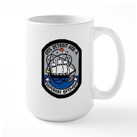 USS Detroit AOE 4 Large Mug