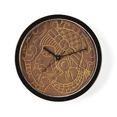 Pre-Columbian Ancient Art Wall Clock
